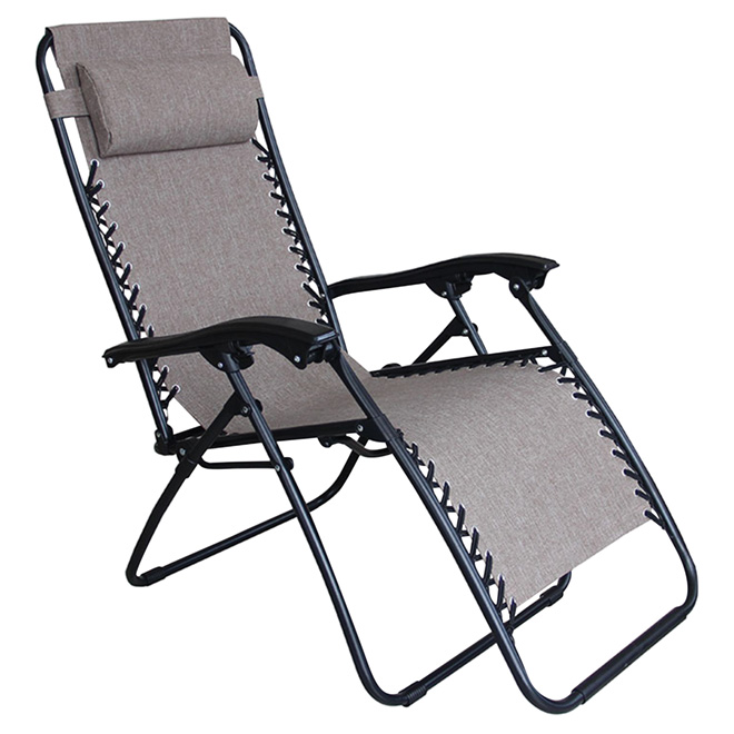 Chaise Longue De Patio Relax 44 Taupe RONA
