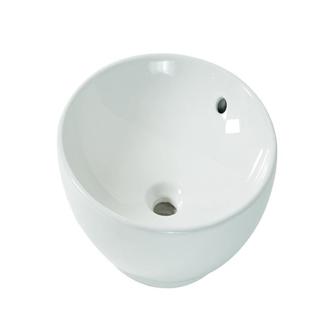 aquasource round vessel sink 15 vitreous china white ml 20508 rona