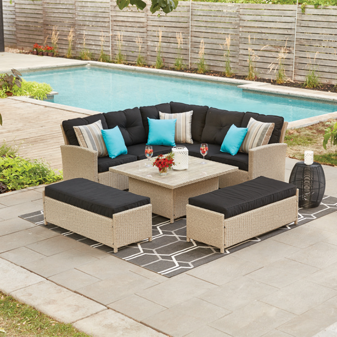 STYLE SELECTIONS Hampton 5-Piece Patio Dining Set ... on 5 Piece Sectional Patio Set id=54790