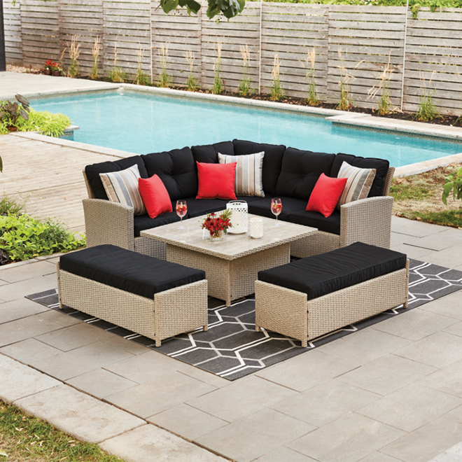 STYLE SELECTIONS Hampton 5-Piece Patio Dining Set ... on 5 Piece Sectional Patio Set id=75208