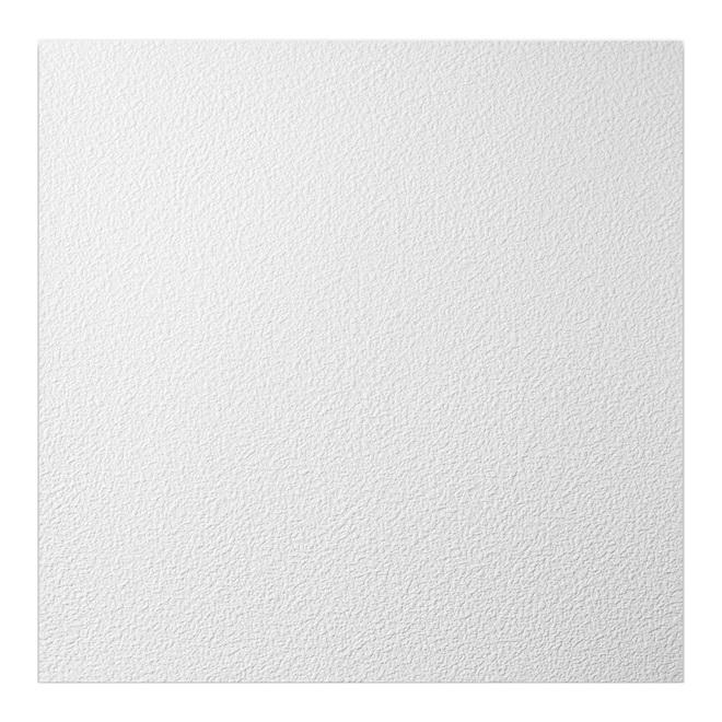 genesis stucco pro ceiling tiles pvc 2 ft x 2 ft 48 sq ft white 12 box
