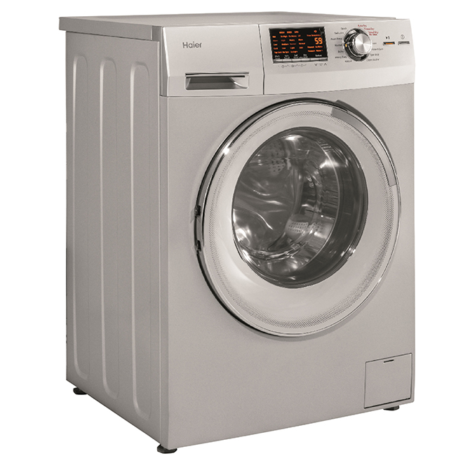 Haier 2 In 1 Washer Dryer Set 24 2 Cu Ft Silver Hlc1700axs Rona