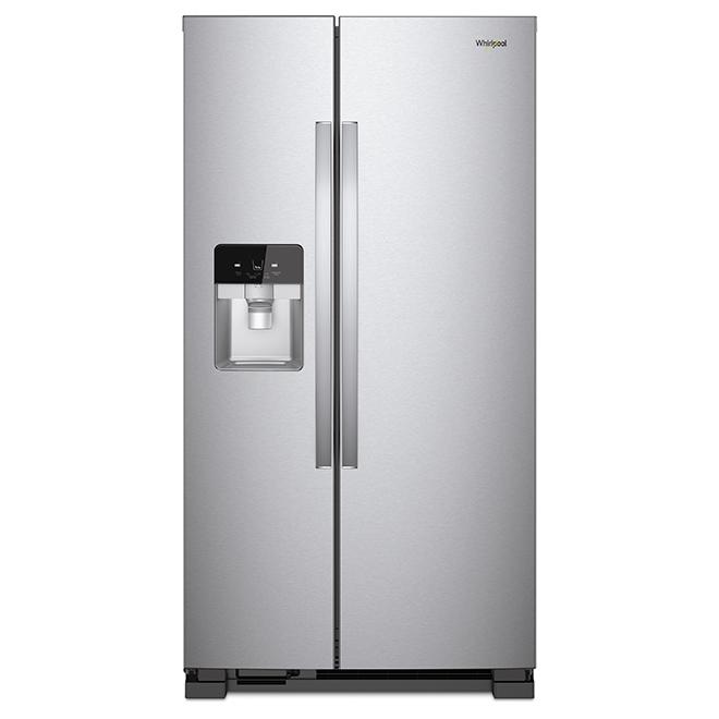 refrigerateur avec distributeur d eau glacons 21 pi inox