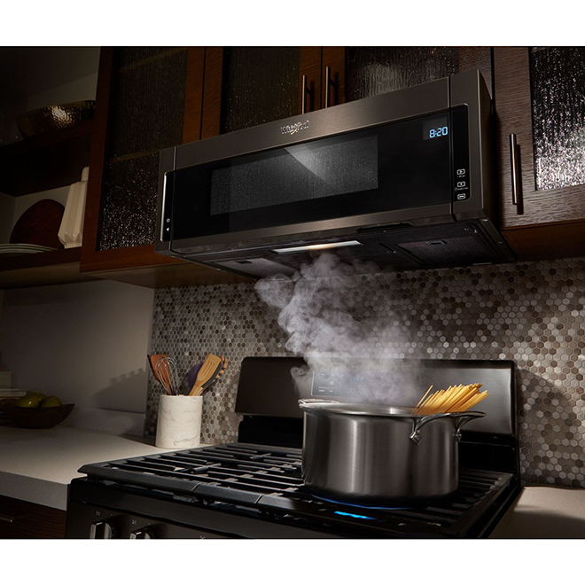 over the range microwave 1 1 cu ft black stainless steel