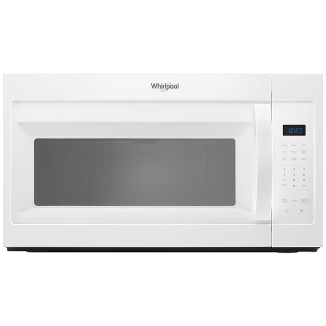 over the range microwave oven 1 7 cu ft 900 w white