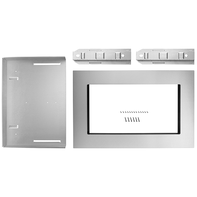kitchenaid r microwave oven trim kit 30 stainless steel