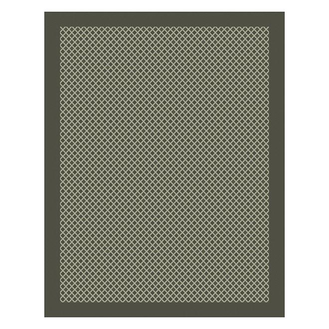 tapis interieur exterieur 8 x 10 gris a motif