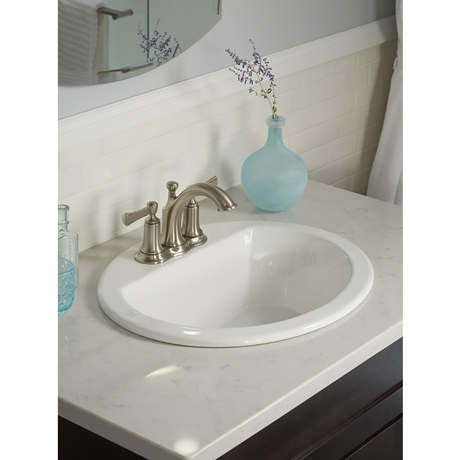 kohler bryant drop in oval sink vitreous china