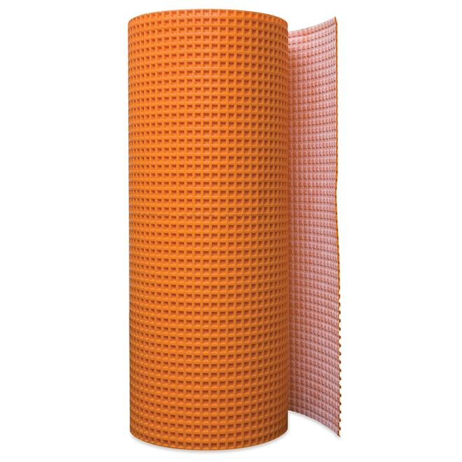 ditra tile uncoupling membrane 54 sq ft orange