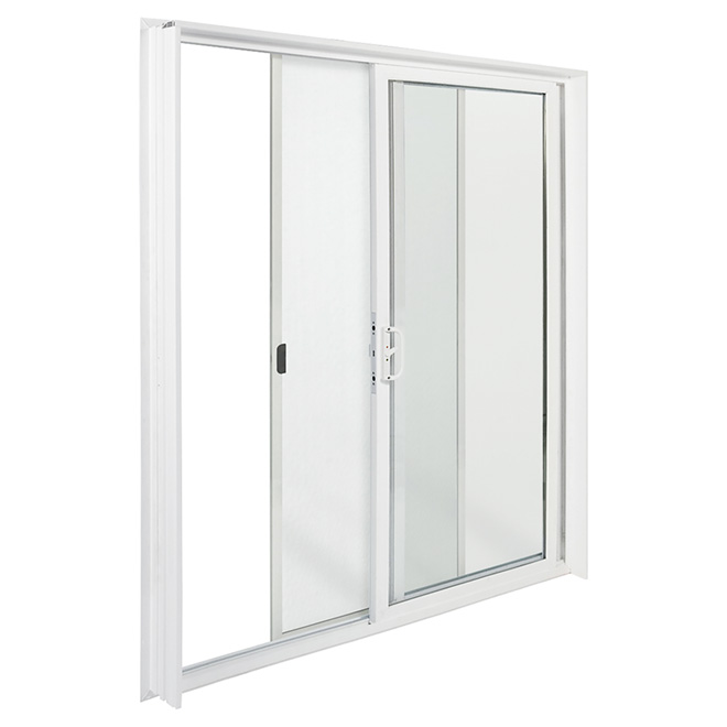vinyl sliding patio door 60 x 80 white left opening