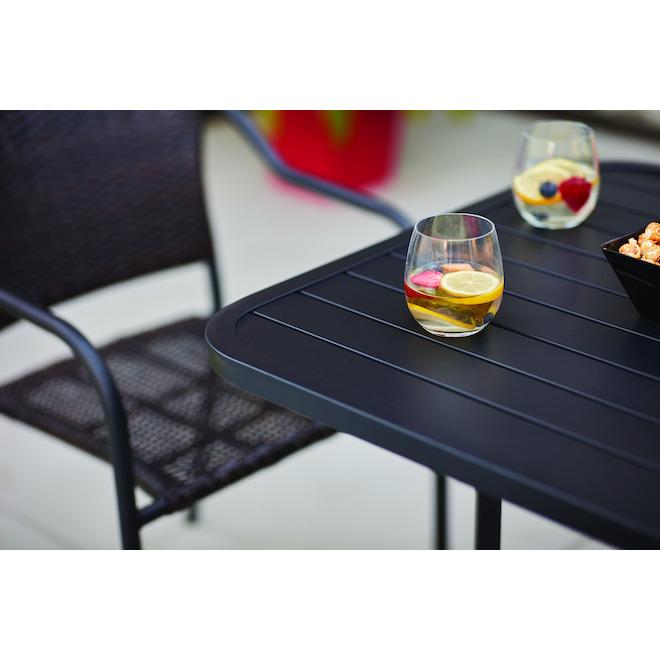 table bistro carree pelham bay style selections 29 1 2 x 30 acier noir