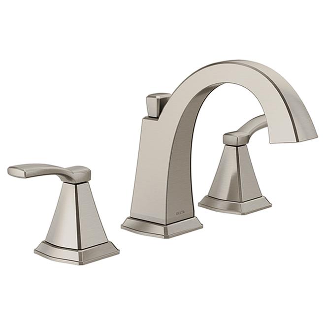 delta flynn 2 handle widespread bathroom sink faucet metal 8 in stainless steel