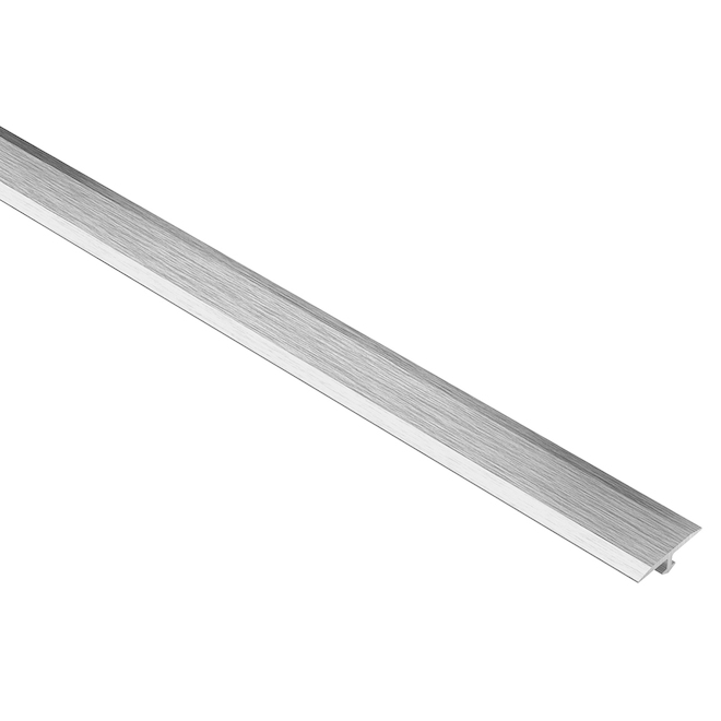 schluter systems vinpro t tile edge 0 53 in brushed chrome