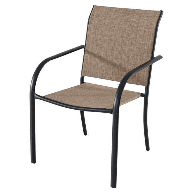 style selections stackable patio chair pelham bay brown and black