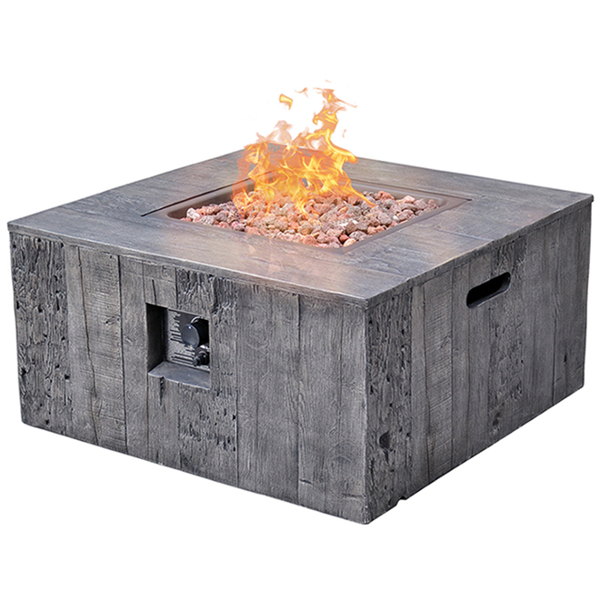 propane outdoor fire table 50 000 btu 34 5 8 in grey