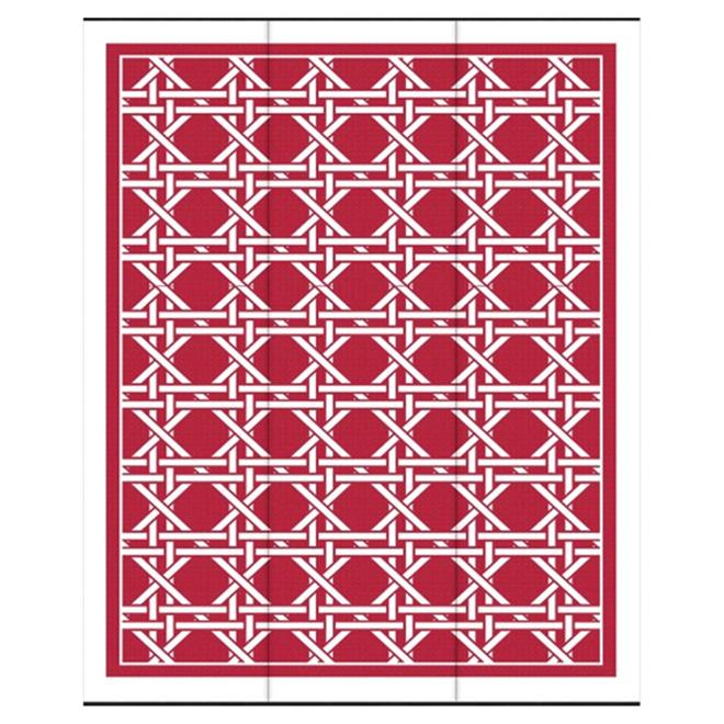tapis d exterieur modele hermitage 8 8 x 12 rouge blanc