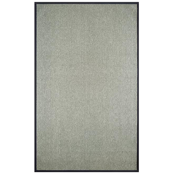 tapis interieur decoratif sisal 8 x 10 gris