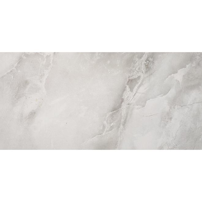porcelain tile 12 x 24 15 5 sq ft gloss grey