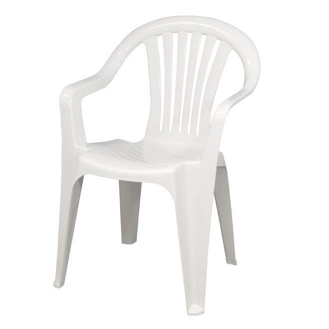stackable caymen resin chair white