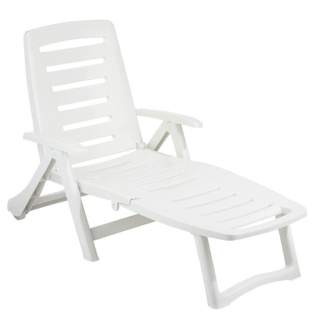 gracious living patio lounge chair adjustable antigua white