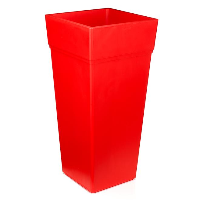 jardiniere haute en plastique 15 x 30 1 2 rouge