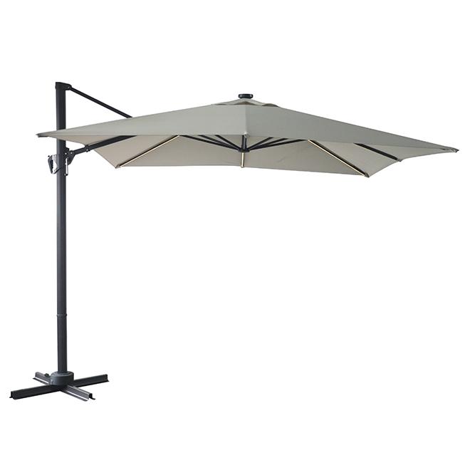 solar light cantilever umbrella 10 taupe
