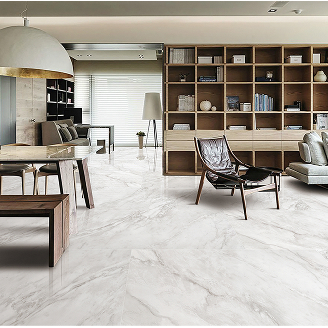 porcelain tile with marble effect 24 x 24 15 5 sq ft