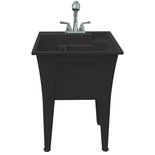 ruggedtub all in one laundry sink plastic 24 in x 22 in black