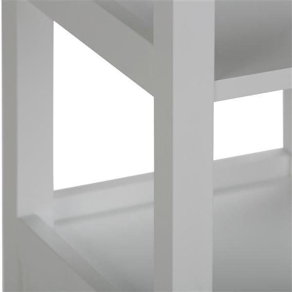 Simpli Home Tour De Rangement Pour Salle De Bain Avington Blanc Axcbc 002 Wh Rona