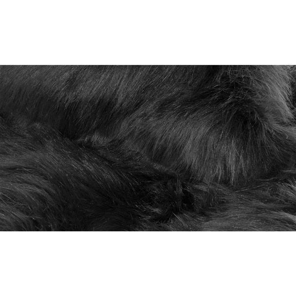 tapis hudson en fausse fourrure de mouton 3x5 noir