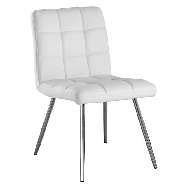 chaises de cuisine monarch 32 blanc ens de 2