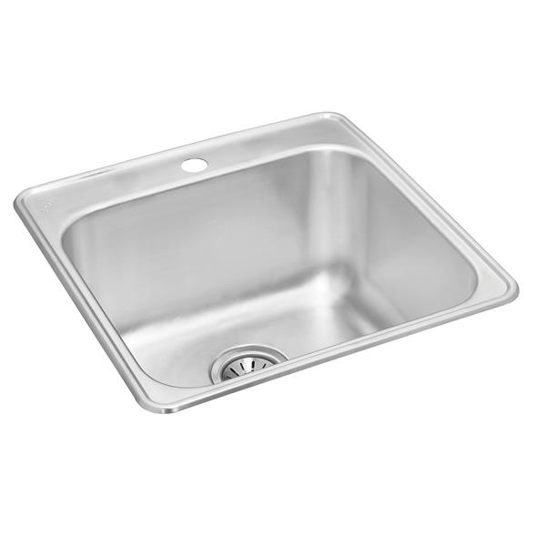 wessan stainless steel drop in utility sink 21 in x 24 in x 10 in