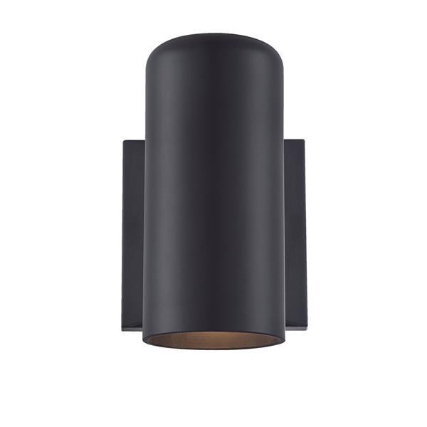 acclaim lighting vista ii 6 88 in matte black marblex outdoor wall sconce
