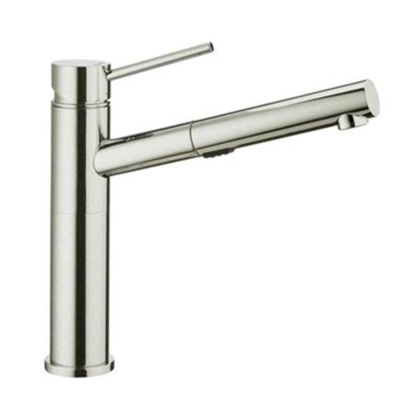 blanco alta dual spray stainless steel kitchen faucet