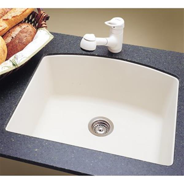blanco diamond 20 75 in x 24 in white silgranit kitchen sink
