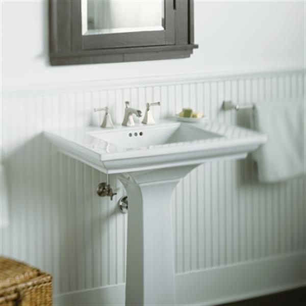 kohler memoirs 30 in white pedestal sink