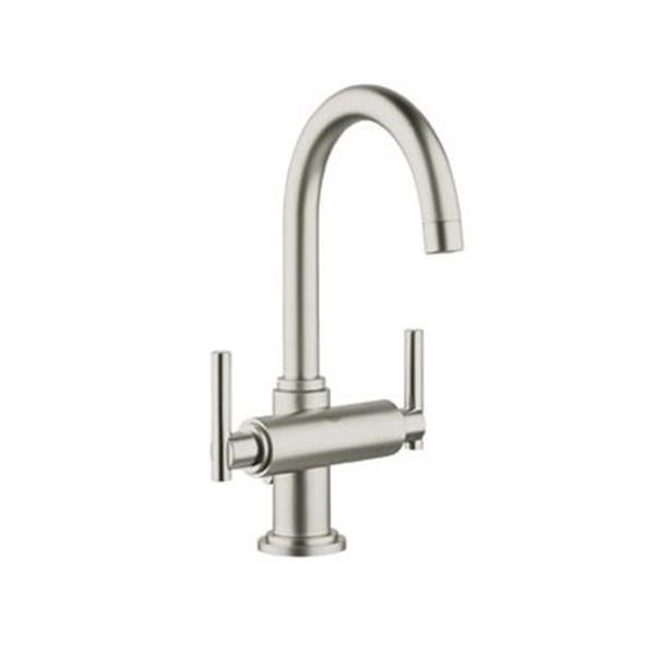 grohe atrio post 11 38 brushed nickel bathroom sink faucet