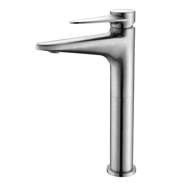 alfi brand brushed nickel tall single hole bathroom faucet