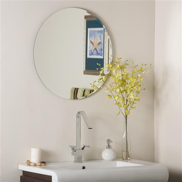 Decor Wonderland Miroir Sans Cadre 23 6 Rond Ssm213 Rona