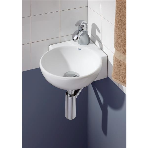 cheviot corner wall mount vessel bathroom sink white