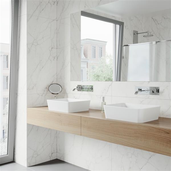 vigo vessel bathroom sink with wall mount faucet white