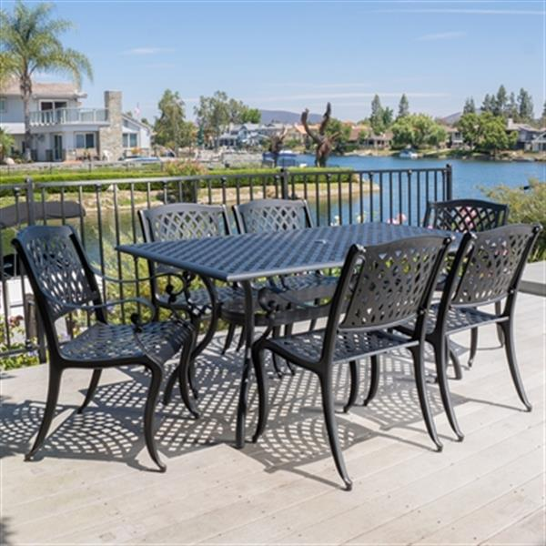 best selling home decor cayman 7 piece outdoor dining set 29