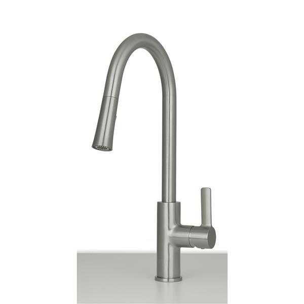 ancona aria kitchen faucet brushed nickel
