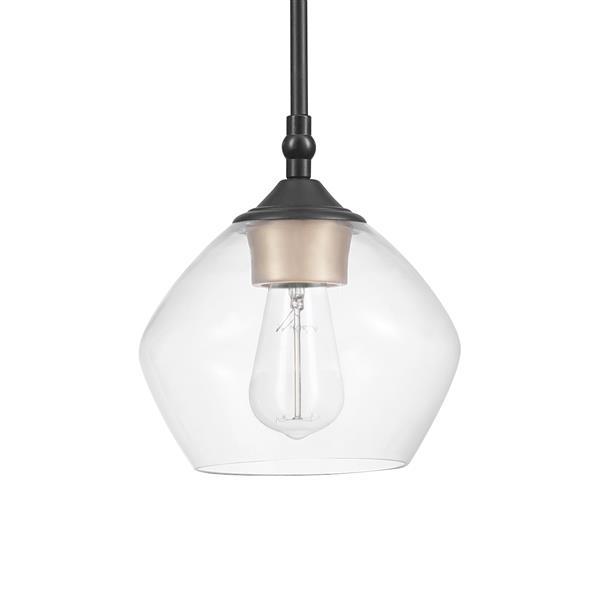 globe electric harrow pendant 1 light 59 6 in black