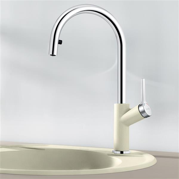 blanco urbena pull down kitchen faucet chrome biscuit