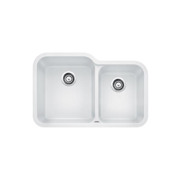 blanco vision undermount kitchen sink white
