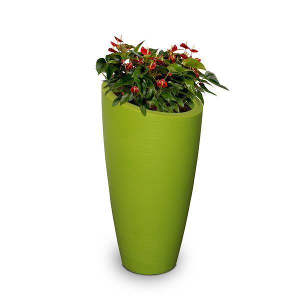 jardiniere haute modesto 16 po x 32 po plastique vert