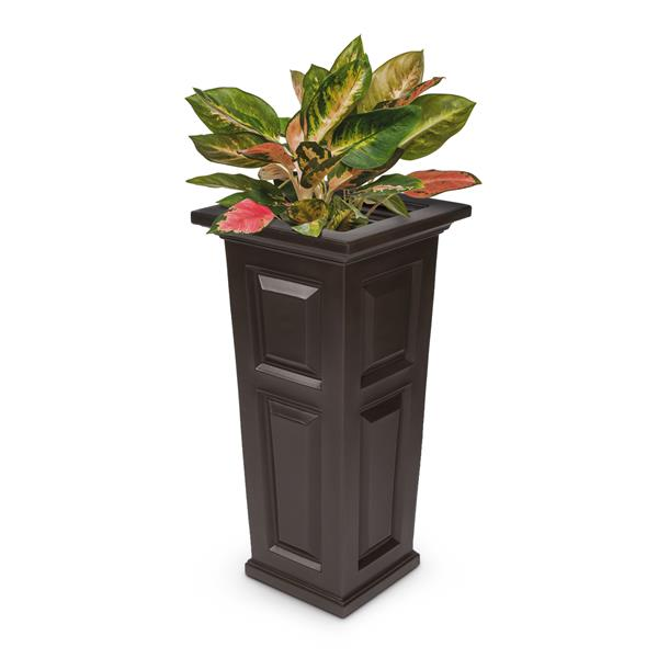 jardiniere haute nantucket 15 5 po x 32 po plastique brun