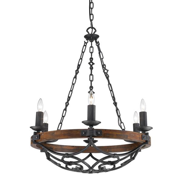 golden lighting madera 6 light chandelier black iron