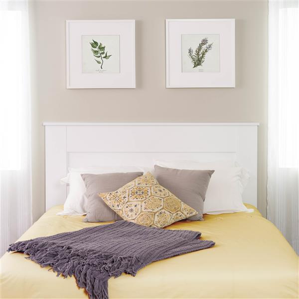 tete de lit a panneau plat pour grand lit blanc